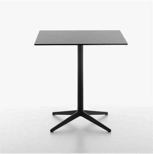contemporary bistro table / cast iron / laminate / HPL