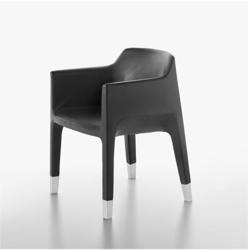 Contemporary chair / upholstered / with armrests / fabric MON AMI PLANK