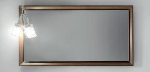 wall-mounted mirror / contemporary / rectangular / wooden