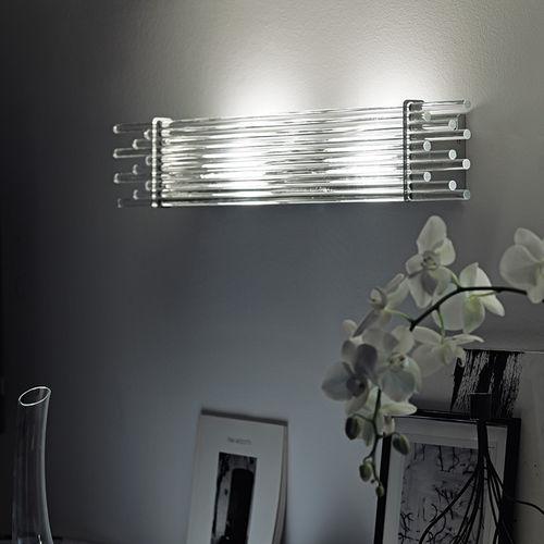 Original design wall light / metal / glass / incandescent DIADEMA by Romani Saccani Architetti Associati Vetreria Vistosi