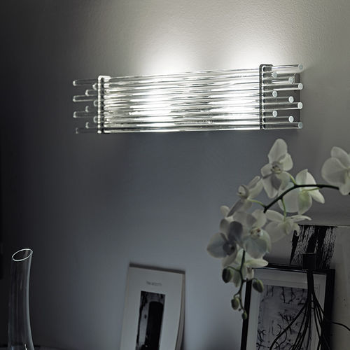 original design wall light / metal / glass / incandescent