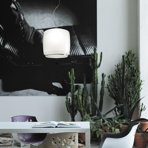 pendant lamp / contemporary / blown glass / incandescent