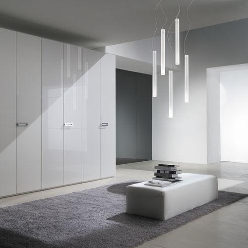 pendant lamp / contemporary / blown glass / halogen
