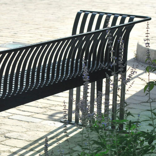 Public bench / traditional / metal / with armrests MADÈRE AREA
