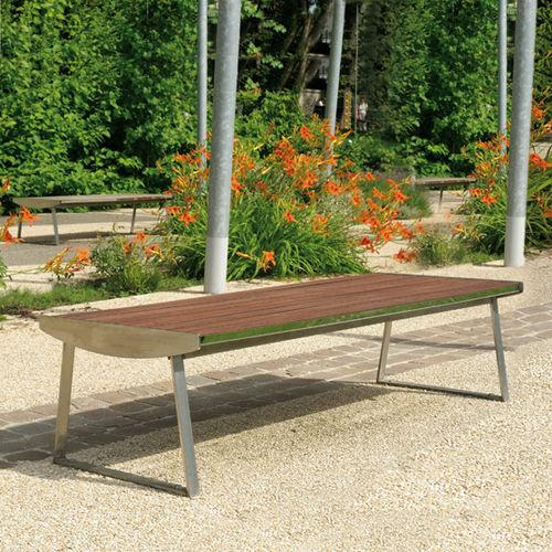 Public bench / contemporary / wooden / metal ORLANDO AREA