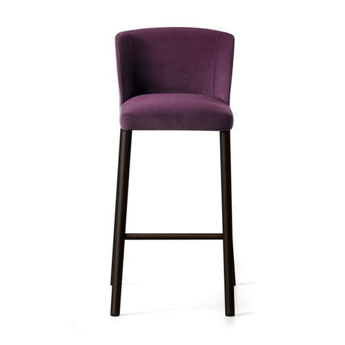 contemporary bar chair / upholstered / fabric / painted steel