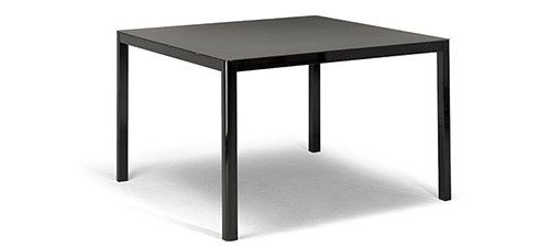 contemporary coffee table / metal / chromed metal / square
