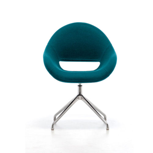 contemporary armchair / aluminum / contract / for hotels