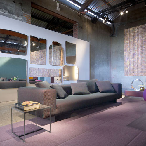 contemporary sofa / fabric / 100% recyclable / gray