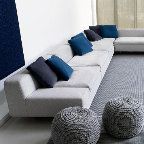 square cushion / rectangular / plain / fabric