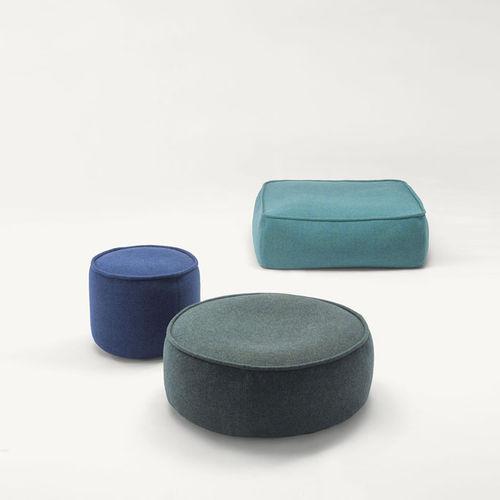 contemporary pouf / fabric / round / rectangular