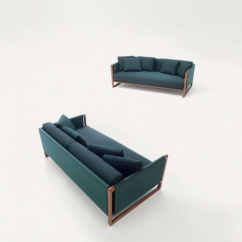 contemporary sofa / garden / fabric / steel