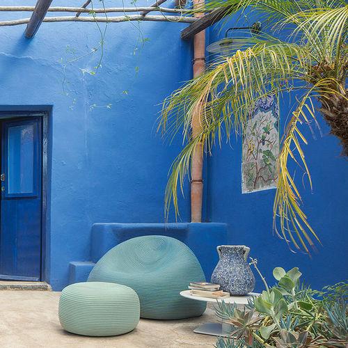 contemporary armchair / rope / garden