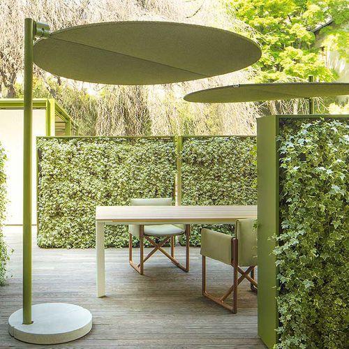 aluminum patio umbrella / steel / polyester / orientable