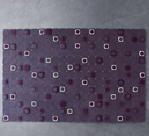 contemporary rug / patterned / wool / felt