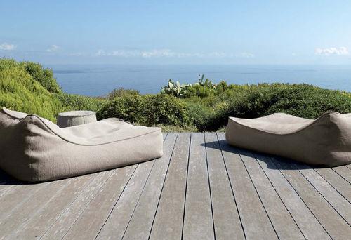 contemporary sun lounger / fabric / polyester