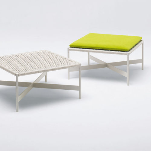 contemporary stool / steel / polyester / rope