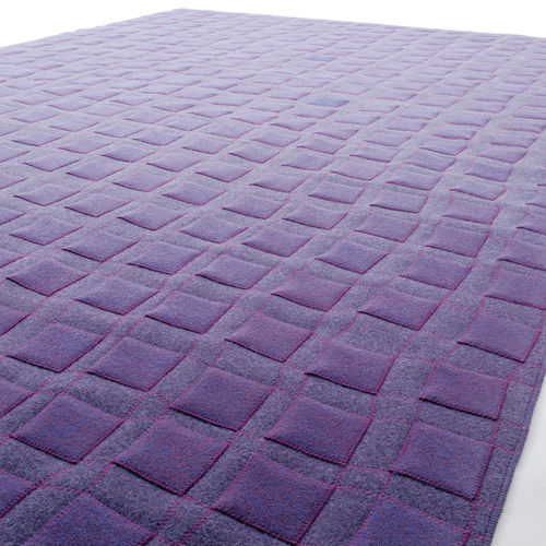 contemporary rug / geometric / wool / felt