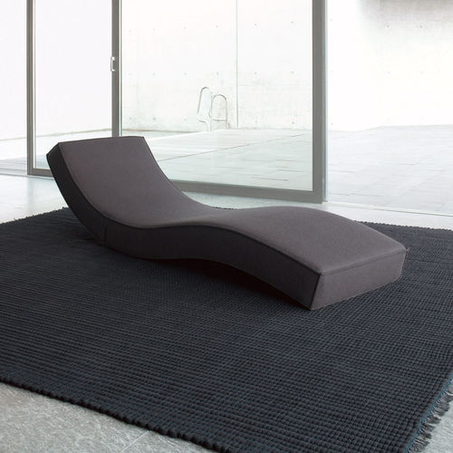 contemporary chaise longue / fabric / polyester