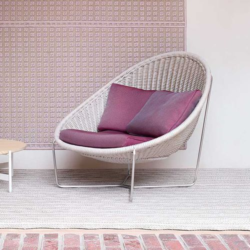 contemporary armchair / stainless steel / rope / by Patricia Urquiola