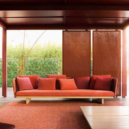 modular sofa / corner / contemporary / garden