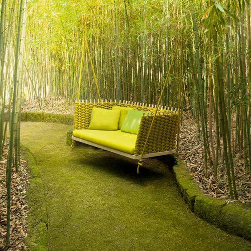 wooden garden swing seat / rope / hanging