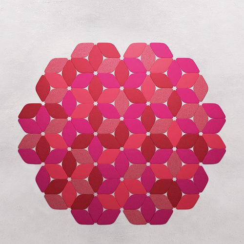contemporary rug / geometric / plain / wool