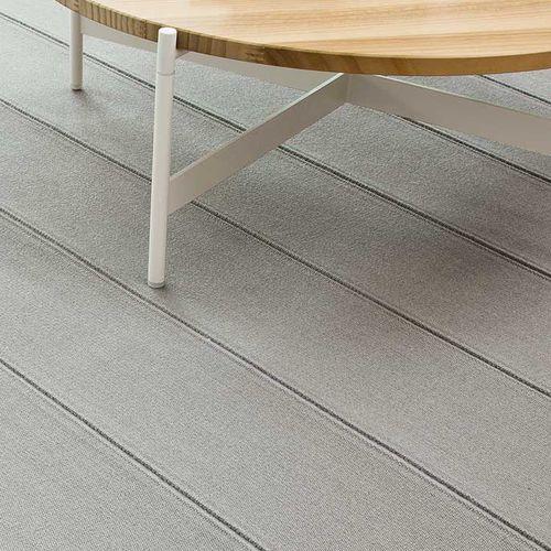 contemporary rug / striped / wool / rectangular