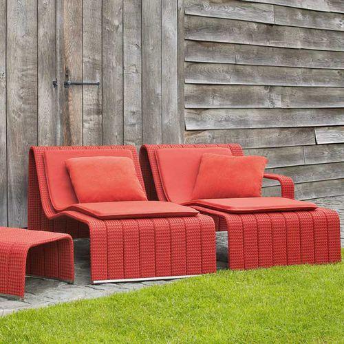 contemporary sun lounger / aluminum / stainless steel / garden