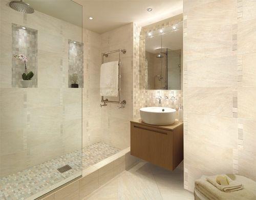 indoor mosaic tile / bathroom / wall / porcelain stoneware