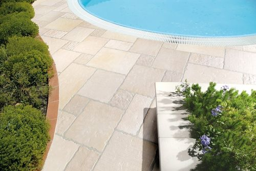 outdoor tile / poolside / for floors / porcelain stoneware