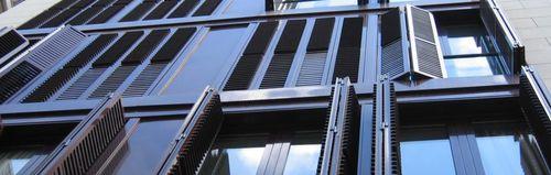 folding shutter / aluminum / window