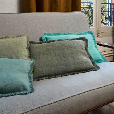 upholstery fabric / for curtains / plain / linen