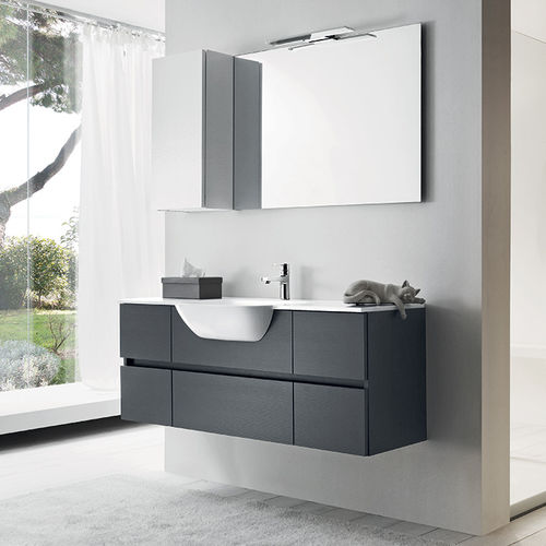 Wall-hung washbasin cabinet / laminate / wooden / contemporary HAPPY RAB ARREDOBAGNO