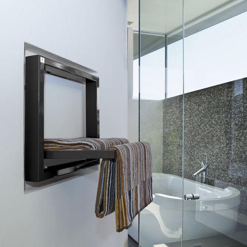 electric towel radiator / metal / contemporary / square