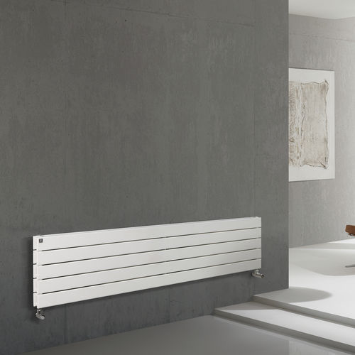hot water radiator / metal / contemporary / horizontal