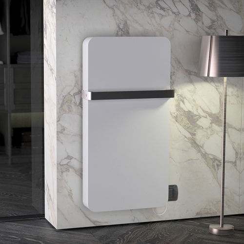 electric towel radiator / steel / contemporary / intelligent