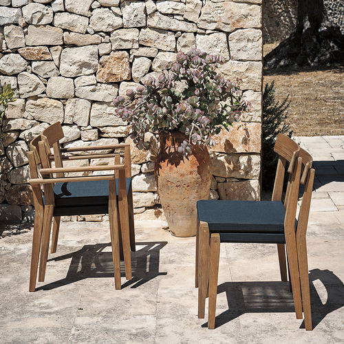 Contemporary chair / upholstered / stackable / fabric TEKA 171 by Gordon Guillaumier RODA