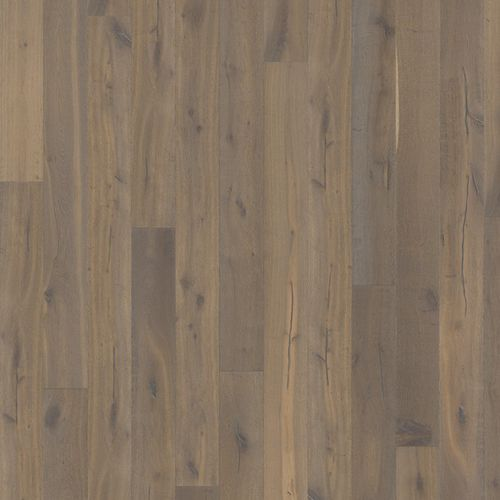Solid parquet flooring / glued / oak / natural oil OAK STORY 187 SMOKED CHARCOAL GREY Karelia