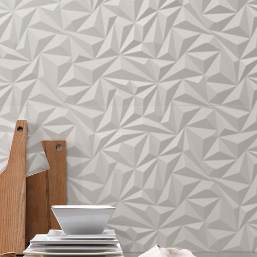 3D tile / indoor / wall / porcelain stoneware 3D WALL DESIGN : ANGLE WHITE Atlas Concorde