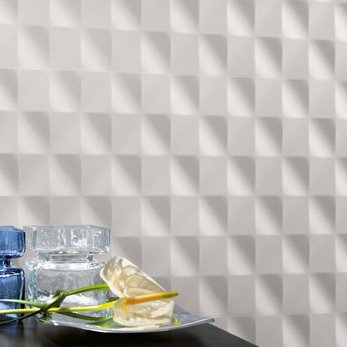 3D tile / indoor / wall / porcelain stoneware 3D WALL DESIGN : MESH WHITE Atlas Concorde