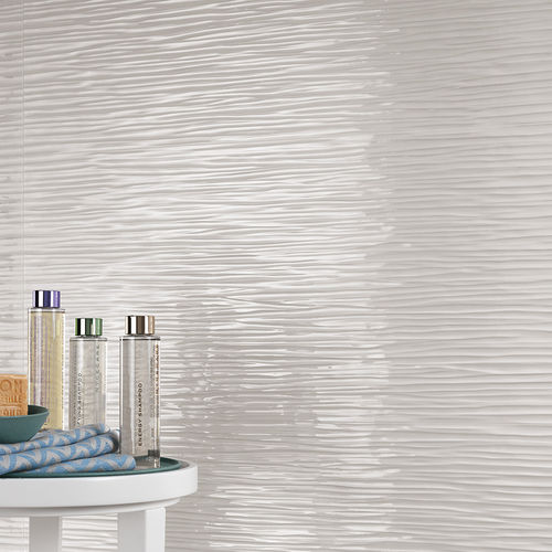 Indoor tile / wall / porcelain stoneware / wave pattern 3D WALL DESIGN : WAVE WHITE Atlas Concorde