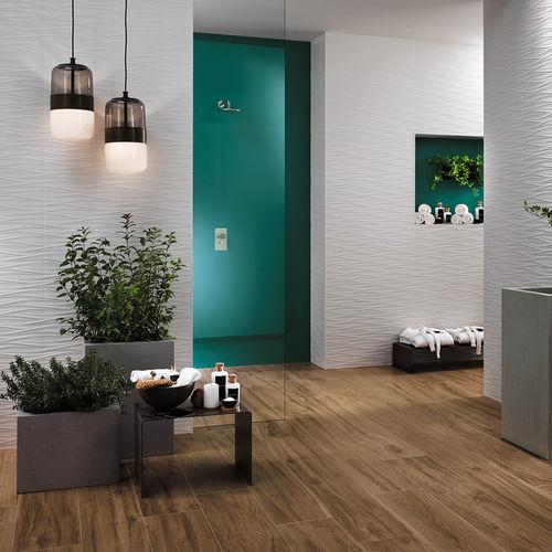 Indoor tile / wall / porcelain stoneware / geometric pattern 3D WALL DESIGN 2017: WIND Atlas Concorde