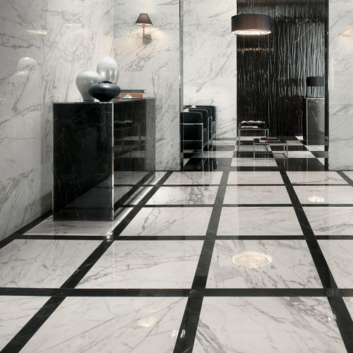 indoor tile / for floors / porcelain stoneware / polished