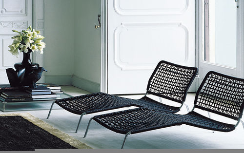 Contemporary chaise longue / wicker / indoor / by Piero Lissoni FROG Living Divani