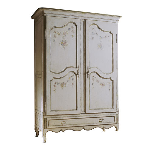 Louis XV style wardrobe / beech / with swing doors / with drawer