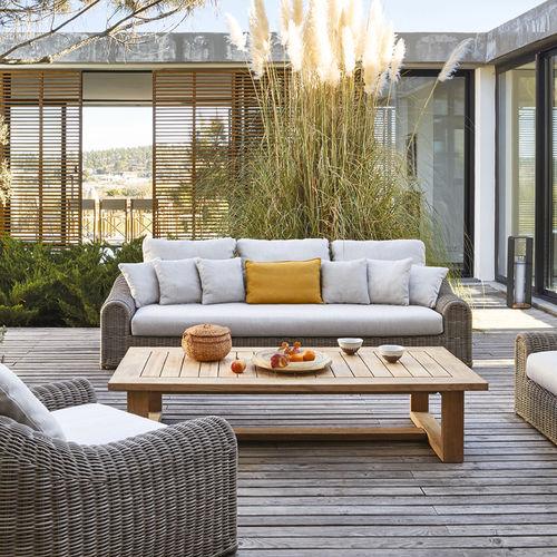 Classic sofa / outdoor / fabric / resin wicker RIVER MANUTTI