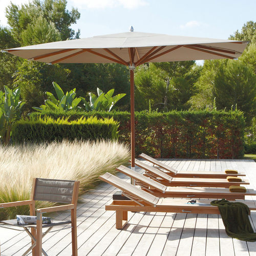 Commercial patio umbrella / fabric / aluminum / teak CENTRAL POLE  MANUTTI
