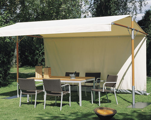 stainless steel gazebo / aluminum / fabric roof
