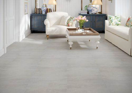 HDF laminate flooring / floating / stone look / tile look